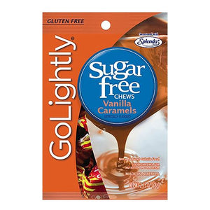 All City Candy GoLightly Sugar Free Chews Vanilla Caramels - 2.75-oz. Bag Caramel Candy Hillside Candy Default Title For fresh candy and great service, visit www.allcitycandy.com