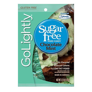 All City Candy GoLightly Sugar Free Chocolate Mint Hard Candy - 2.75-oz. Bag Hard Hillside Candy Default Title For fresh candy and great service, visit www.allcitycandy.com