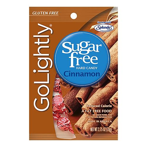 GoLightly Sugar Free Cinnamon Hard Candy - 2.75-oz. Bag For fresh candy and great service, visit us at www.allcitycandy.com
