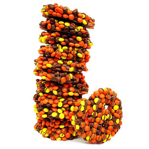 All City Candy Gourmet Milk Chocolate Reese's Pieces Pretzel Twists Pretzalicious All City Candy Dozen For fresh candy and great service, visit www.allcitycandy.com