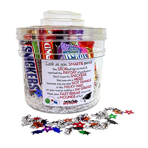 Color Coordinate Your Grad's Candy Or Give Them A Gift Bucket!