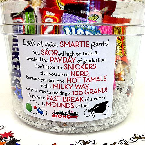 Marvelous Graduation Candy Bar Poem Gift Bucket Home Interior And Landscaping Eliaenasavecom
