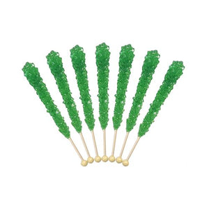 All City Candy Green Apple Rock Candy Crystal Sticks - Tub of 36 Rock Candy Espeez For fresh candy and great service, visit www.allcitycandy.com