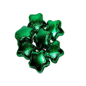 All City Candy Green Foiled Milk Chocolate Stars - 3 LB Bulk Bag Bulk Wrapped Madelaine Chocolate Company Default Title For fresh candy and great service, visit www.allcitycandy.com