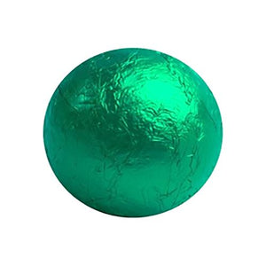 All City Candy Green Foiled Solid Milk Chocolate Balls - 2 LB Bulk Bag Bulk Wrapped SweetWorks For fresh candy and great service, visit www.allcitycandy.com