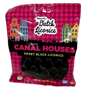 All City Candy Gustaf's Dutch Black Licorice Canal Houses - 5.29-oz. Bag Licorice Gerrit J. Verburg Candy For fresh candy and great service, visit www.allcitycandy.com