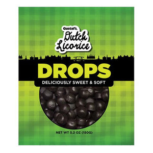 All City Candy Gustaf's Dutch Licorice Drops - 5.2-oz. Bag Licorice Gerrit J. Verburg Candy 1 Bag For fresh candy and great service, visit www.allcitycandy.com