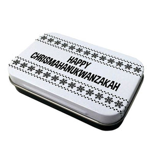 All City Candy Happy Chrismahanukwanzakah Mints - 1.5-oz. Tin Novelty Boston America For fresh candy and great service, visit www.allcitycandy.com