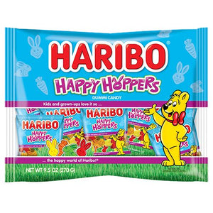 All City Candy Haribo Happy Hoppers Easter Gummi Candy Snack Packs- 9.5-oz. Bag Easter Haribo Candy For fresh candy and great service, visit www.allcitycandy.com