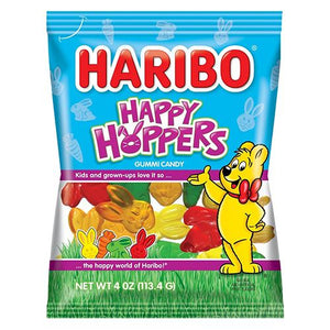 All City Candy Haribo Happy Hoppers Gummi Candy - 4-oz. Bag Easter Haribo Candy For fresh candy and great service, visit www.allcitycandy.com