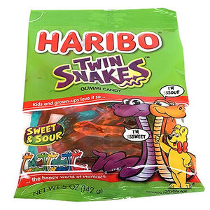 All City Candy Haribo Twin Snakes Gummi Candy - 5-oz. Bag Gummi Haribo Candy For fresh candy and great service, visit www.allcitycandy.com