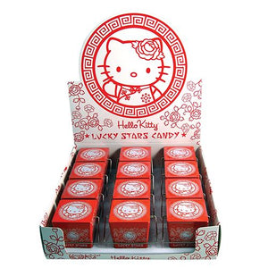 All City Candy Hello Kitty Lucky Stars Candy - 1.5-oz. Tin Novelty Boston America Case of 12 For fresh candy and great service, visit www.allcitycandy.com