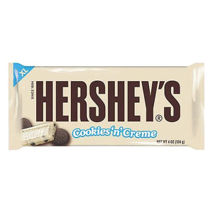 All City Candy Hershey's Cookies 'n' Creme XL Candy Bar 4 oz. Candy Bars Hershey's 1 Bar For fresh candy and great service, visit www.allcitycandy.com