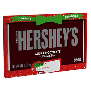 All City Candy Hershey's Holiday Milk Chocolate Candy Bar - 3 Pound Gift Christmas Hershey's For fresh candy and great service, visit www.allcitycandy.com