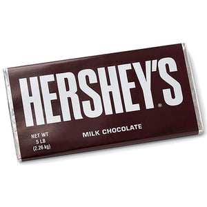 All City Candy Hershey's Milk Chocolate 5 Pound Candy Bar Candy Bars Hershey's Default Title For fresh candy and great service, visit www.allcitycandy.com