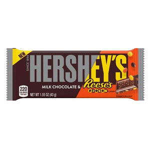 All City Candy Hershey's Milk Chocolate & Reese's Pieces Candy Bar 1.55 oz. Candy Bars Hershey's For fresh candy and great service, visit www.allcitycandy.com