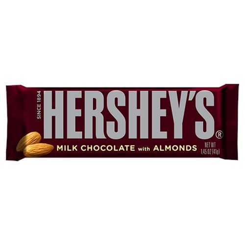 Hershey's Milk Chocolate with Almonds Candy Bar 1.45 oz. - All ...