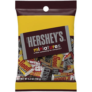 All City Candy Hershey's Miniatures Candy Bars - 5.3-oz. Bag Candy Bars Hershey's For fresh candy and great service, visit www.allcitycandy.com