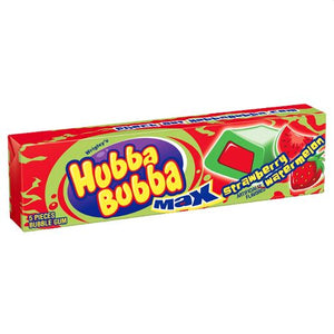 All City Candy Hubba Bubba Max Strawberry Watermelon Bubble Gum - 5 Piece Pack Gum/Bubble Gum Wrigley 1 Pack For fresh candy and great service, visit www.allcitycandy.com
