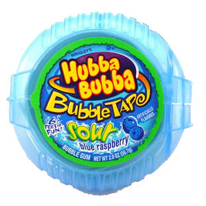 All City Candy Hubba Bubba Sour Blue Raspberry Bubble Tape Bubble Gum - 6 Foot Roll Gum/Bubble Gum Wrigley 1 Roll For fresh candy and great service, visit www.allcitycandy.com