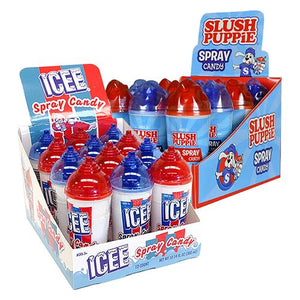 All City Candy ICEE or Slush Puppie Spray Candy .85 fl. oz. Liquid & Spray Candy Koko's Confectionery & Novelty Case of 12 For fresh candy and great service, visit www.allcitycandy.com
