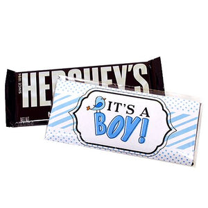 All City Candy It's a Boy! Candy Bar Wrappers Custom All City Candy For fresh candy and great service, visit www.allcitycandy.com