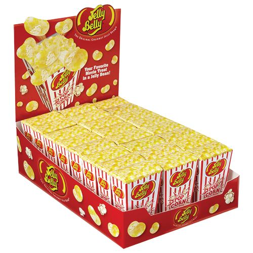 Jelly Belly Buttered Popcorn Jelly Beans 1 75 Oz Box All City Candy