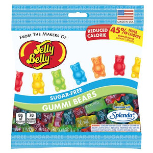 All City Candy Jelly Belly Sugar Free Gummi Bears - 2.8-oz. Bag Gummi Jelly Belly Default Title For fresh candy and great service, visit www.allcitycandy.com