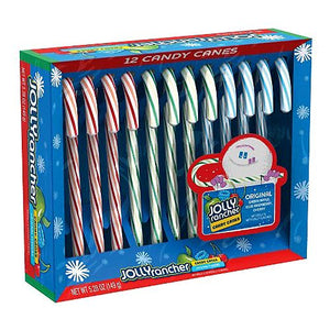 All City Candy Jolly Rancher Assorted Candy Canes - Box of 12 Christmas Hershey's For fresh candy and great service, visit www.allcitycandy.com