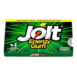 All City Candy Jolt Energy Gum Spearmint - 10-Piece Pack Gum/Bubble Gum Candy Treasures 1 Pack For fresh candy and great service, visit www.allcitycandy.com