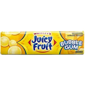 All City Candy Juicy Fruit Bubble Gum Original Flavor - 5 Piece Pack Gum/Bubble Gum Wrigley 1 Pack For fresh candy and great service, visit www.allcitycandy.com