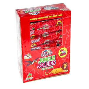 All City Candy Jungle Jollies Strawberry Chewy Candy - 48 Piece Box Chewy Albert's Candy For fresh candy and great service, visit www.allcitycandy.com