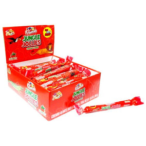 All City Candy Jungle Jollies Strawberry Chewy Candy - 48 Piece Box Chewy Albert's Candy Default Title For fresh candy and great service, visit www.allcitycandy.com