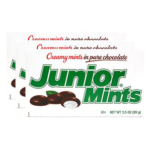 All City Candy Junior Mints - 3.5-oz. Theater Box Theater Boxes Tootsie Roll Industries Case of 12 For fresh candy and great service, visit www.allcitycandy.com