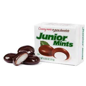 All City Candy Junior Mints Snack Size Boxes .35 oz. Chocolate Tootsie Roll Industries For fresh candy and great service, visit www.allcitycandy.com