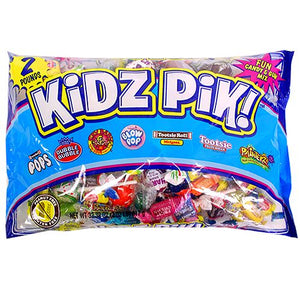 All City Candy Kidz Pik Candy & Gum Mix - 2 LB Bag Halloween Tootsie Roll Industries For fresh candy and great service, visit www.allcitycandy.com