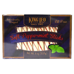 All City Candy King Leo Soft Peppermint Sticks - 9-oz. Box Hard Quality Candy Company For fresh candy and great service, visit www.allcitycandy.com