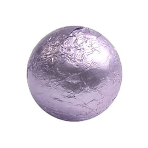 All City Candy Lavender Foiled Solid Milk Chocolate Balls - 2 LB Bulk Bag Bulk Wrapped SweetWorks For fresh candy and great service, visit www.allcitycandy.com