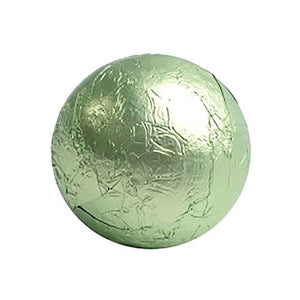 All City Candy Leaf Green Foiled Solid Milk Chocolate Balls - 2 LB Bulk Bag Bulk Wrapped SweetWorks For fresh candy and great service, visit www.allcitycandy.com
