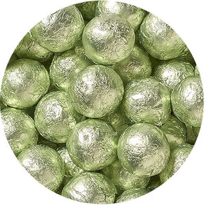All City Candy Leaf Green Foiled Solid Milk Chocolate Balls - 2 LB Bulk Bag Bulk Wrapped SweetWorks Default Title For fresh candy and great service, visit www.allcitycandy.com