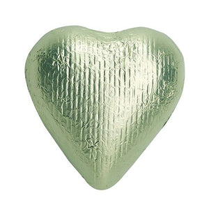 All City Candy Leaf Green Foiled Solid Milk Chocolate Hearts - 2 LB Bulk Bag Bulk Wrapped SweetWorks Default Title For fresh candy and great service, visit www.allcitycandy.com