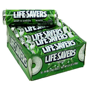 All City Candy Life Savers Mints Wint O Green - .84-oz. Roll Mints Wrigley Case of 20 For fresh candy and great service, visit www.allcitycandy.com