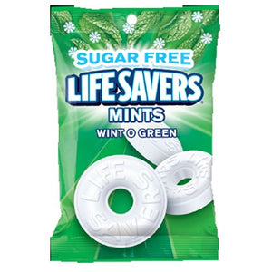All City Candy Life Savers Sugar Free Mints Wint O Green - 2.75-oz. Bag Hard Wrigley Default Title For fresh candy and great service, visit www.allcitycandy.com