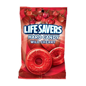 All City Candy Life Savers Wild Cherry Hard Candy - 6.25-oz. Bag Hard Wrigley Default Title For fresh candy and great service, visit www.allcitycandy.com