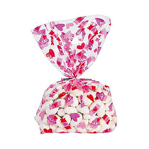 All City Candy Love is Sweet Cellophane Treat Bags - Pack of 12 Candy Buffet Supplies Fun Express For fresh candy and great service, visit www.allcitycandy.com