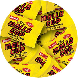 All City Candy Milk Chocolate Mallo Cup Fun Bites - 3 LB Bulk Bag Bulk Wrapped Boyer Candy Company Default Title For fresh candy and great service, visit www.allcitycandy.com