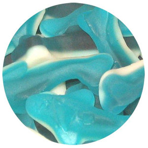 All City Candy Mini Blue Shark Gummi Candy - 5 LB Bulk Bag Bulk Unwrapped Ferrara Candy Company Default Title For fresh candy and great service, visit www.allcitycandy.com