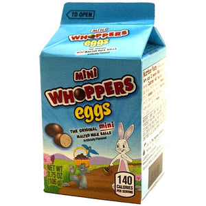 All City Candy Mini Whoppers Eggs Malted Milk Balls - 3.75-oz. Carton Easter Hershey's 1 Carton For fresh candy and great service, visit www.allcitycandy.com