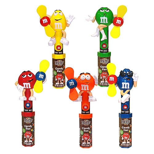M&M's Character Fan Candy Toy For fresh candy and great service, visit us at www.allcitycandy.com