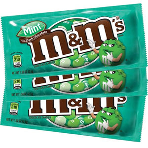 All City Candy M&M's Dark Mint Chocolate Candies - 1.5-oz. Bag Chocolate Mars Chocolate Case of 24 For fresh candy and great service, visit www.allcitycandy.com